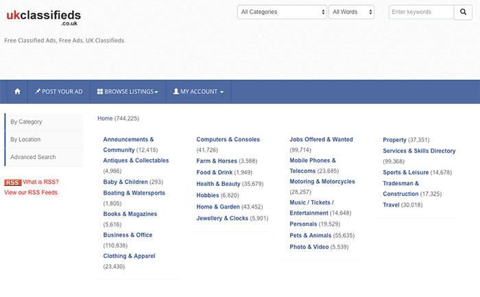 UKclassifieds Website